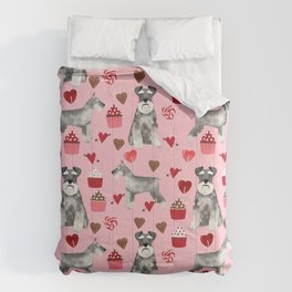 Schnauzer valentines day cupcakes love hearts schnauzers must have pure breed lovers Comforters