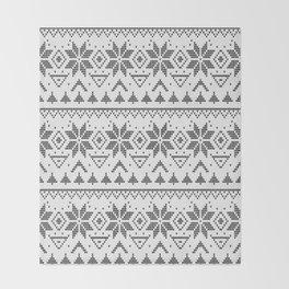 Knitted Scandinavian pattern Throw Blanket
