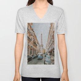 Paris VII Unisex V-Neck