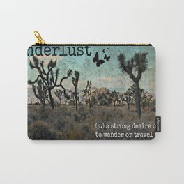 Wanderlust Inspirational Travel Quote  Carry-All Pouch