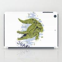 crocodile iPad Cases featuring Crocodile by Sam Jones Illustration
