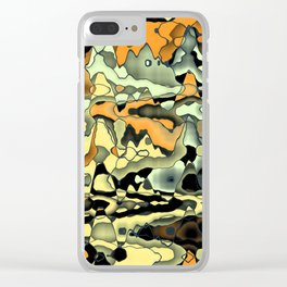 Rusty abstract Clear iPhone Case