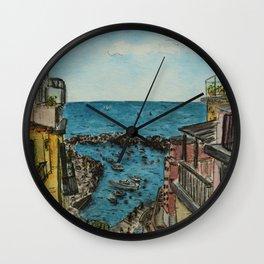 Ligurian Sea Wall Clock