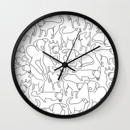 Ruff and Tumble Wall Clock