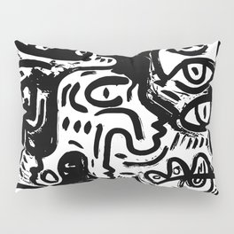 Dark Street Art Stencil Vector Graffiti Pillow Sham