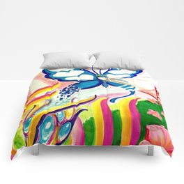 """""""SF Butterfly"""" by Adam France Comforters"""