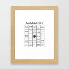 Social Media Buzzword Bingo Card Framed Art Print