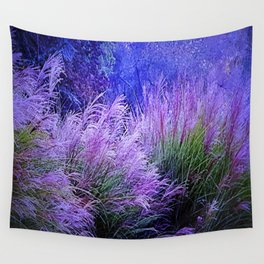Purple long grass Wall Tapestry