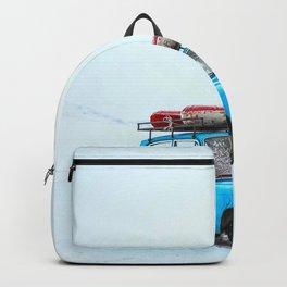 Blue Car Travels (Color) Backpack