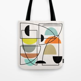 "Mid Century Modern ""Bowls"" Tote Bag"