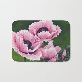 Pretty Pink Poppies Bath Mat