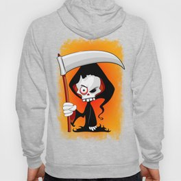 Grim Reaper Creepy Cartoon Character Hoody