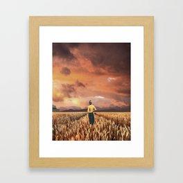 Fields of Dusk Framed Art Print
