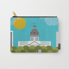 Columbia, South Carolina - Skyline Illustration by Loose Petals Carry-All Pouch