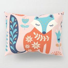 Soft And Sweet Scandinavian Fox Folk Art Kissenbezug