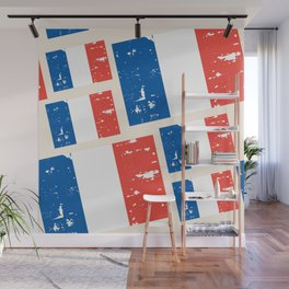 France Flags Pattern Wall Mural