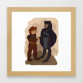 The Raven and the Ram Framed Art Print