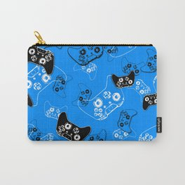 Video Game in Blue Carry-All Pouch