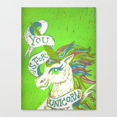 You is for Unicorn Canvas Print