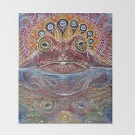 Zabka (Little Frog) 5-MEO Bufo Toad Throw Blanket