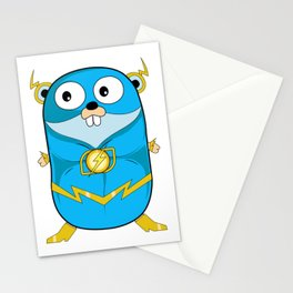 Golang - Iris Gopher Stationery Cards