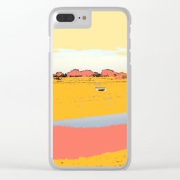 Boats on the Estuary Clear iPhone Case