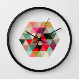 Geo Hex 03. Wall Clock