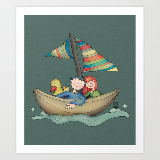 Romance {You and Me in my dreams} Art Print