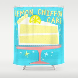 All American Classic Lemon Chiffon Cake Shower Curtain
