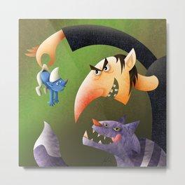 "My ""Smurfs"" version Metal Print"