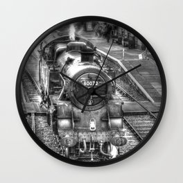 The Golden Age of Steam Wall Clock