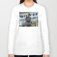 allyson johnson Long Sleeve T-shirts featuring Joyce Manor - Barry Johnson by chrisofarc