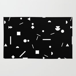 My Favorite Pattern 3 black Rug