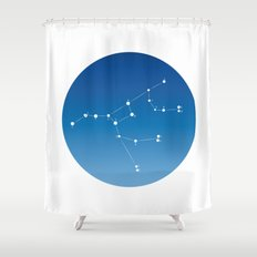 Ursa major constellation Shower Curtain
