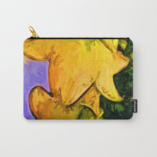 Gold Lilies in a Terracotta Pot Carry-All Pouch