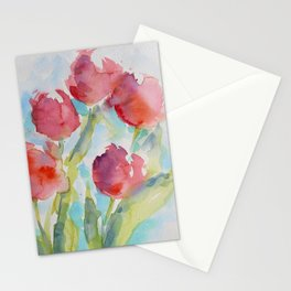 Tulips (watercolor) Stationery Cards