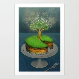 Earth Day Cake Art Print