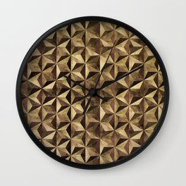Golden pyramids Wall Clock