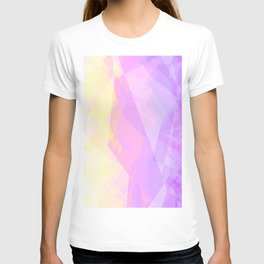 Abstract Geometric design with Unicorn Colors T-shirt