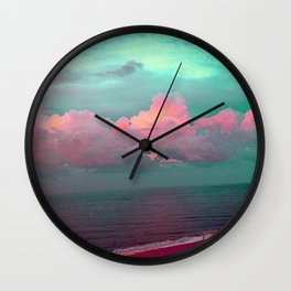 Green sky in the morning, everything is fine Wall Clock