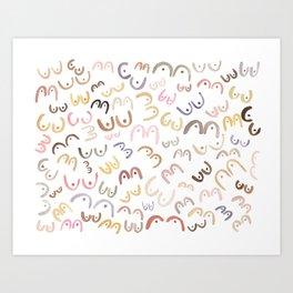 Little Boobies Art Print
