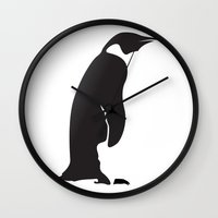 penguin Wall Clocks featuring Penguin by Cs025