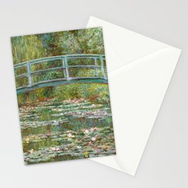 """Claude Monet """"Bridge over a Pond of Water Lilies"""" Stationery Cards"""