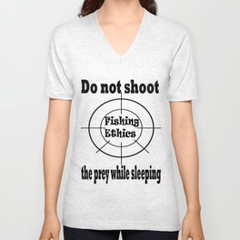 Fishing Ethics Unisex V-Neck