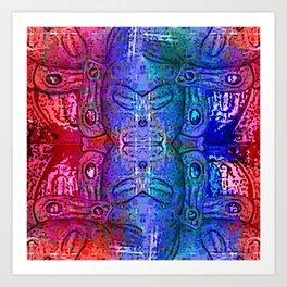 Taino Abstractions - Damian Caracaracoli Art Print