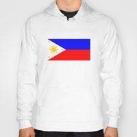 philippines Hoodies featuring Philippines country flag by tony tudor