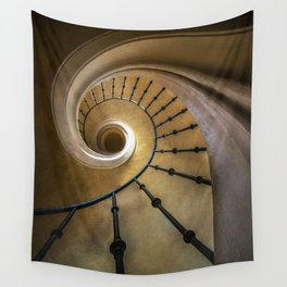 Golden spiral staircase Wall Tapestry