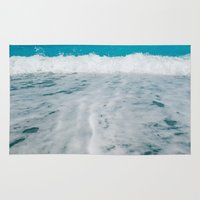 wave Area & Throw Rugs featuring Wave by SensualPatterns