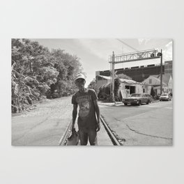 On The Tracks - New Orleans, Louisiana Canvas Print