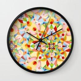 Pastel Carousel Wall Clock
